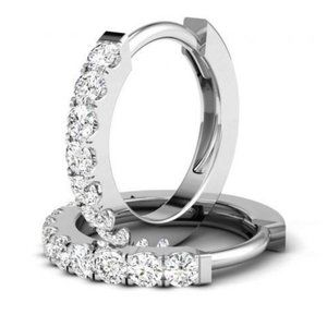 Jewelry - Sparkling 3.20 carats diamonds ladies Hoop earring
